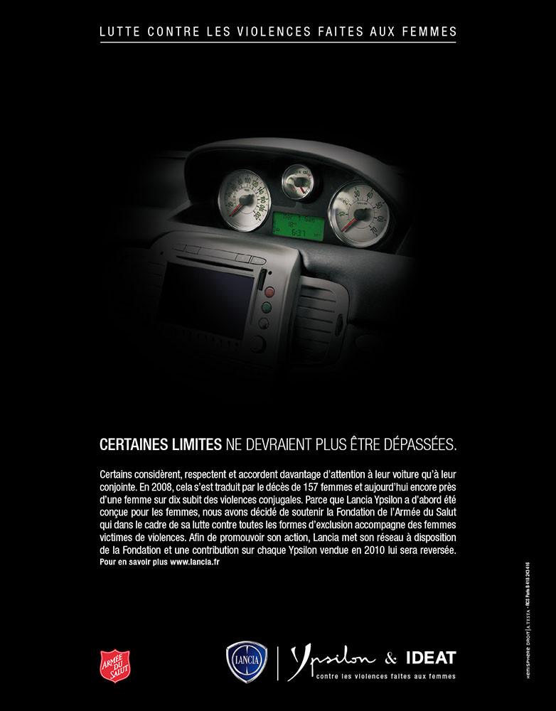 Création campagne print grande cause Lancia Ypsilon - créé par Romain Cotto, Directeur Artistique 360 Print/film/digital