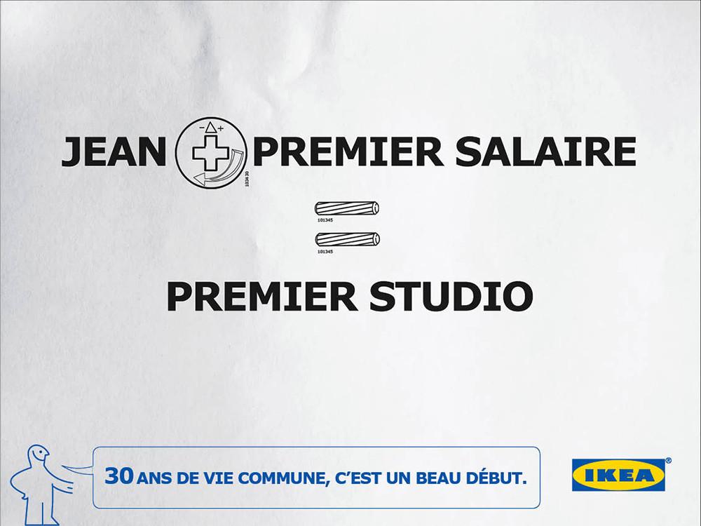 premier studio, IKEA, 30 ans - créé par Romain Cotto, Directeur Artistique 360 Print/film/digital