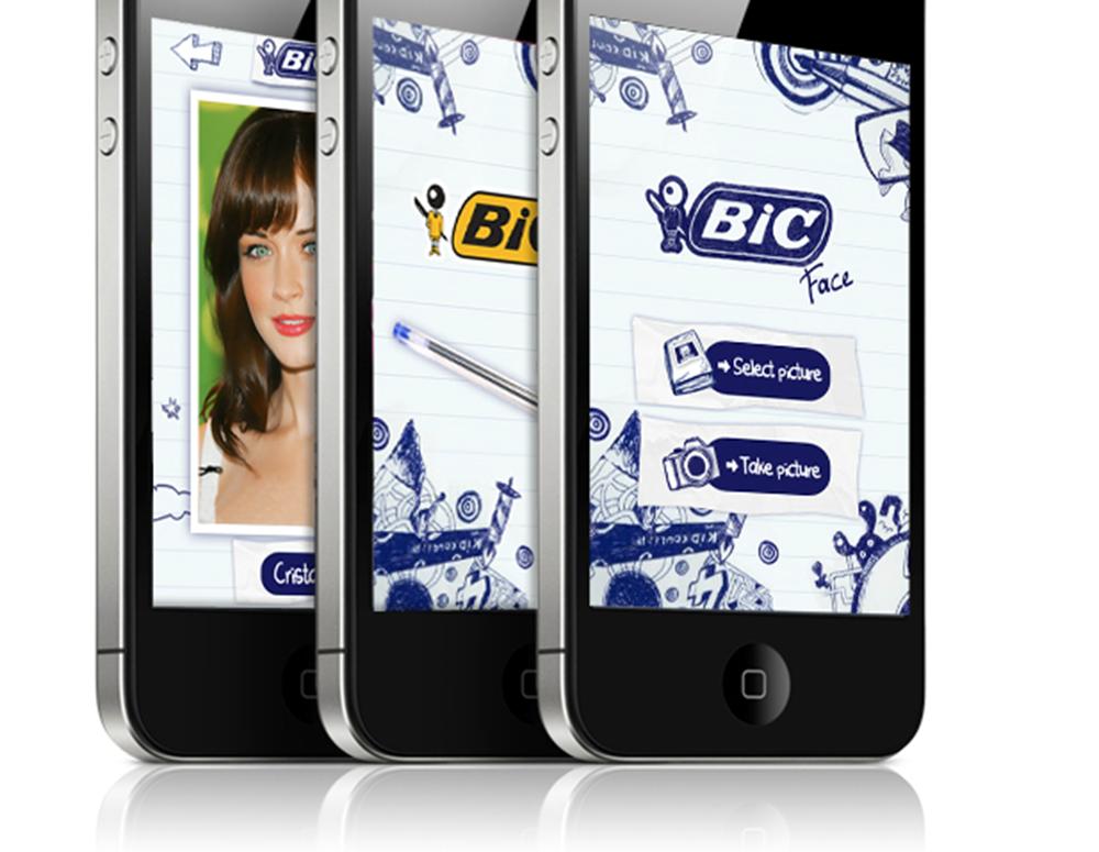 Application Mobile responsive the bic wall, 60 ans - créé par Romain Cotto, Directeur Artistique 360 Print/film/digital