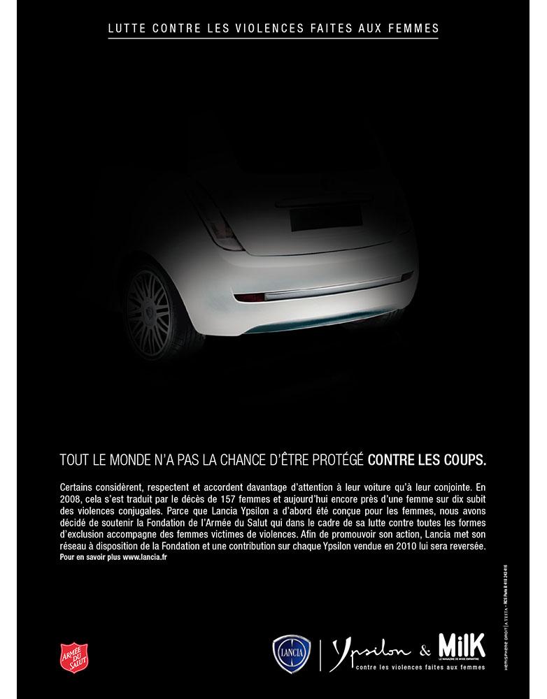 Création campagne print grande cause Lancia Ypsilon- créé par Romain Cotto, Directeur Artistique 360 Print/film/digital