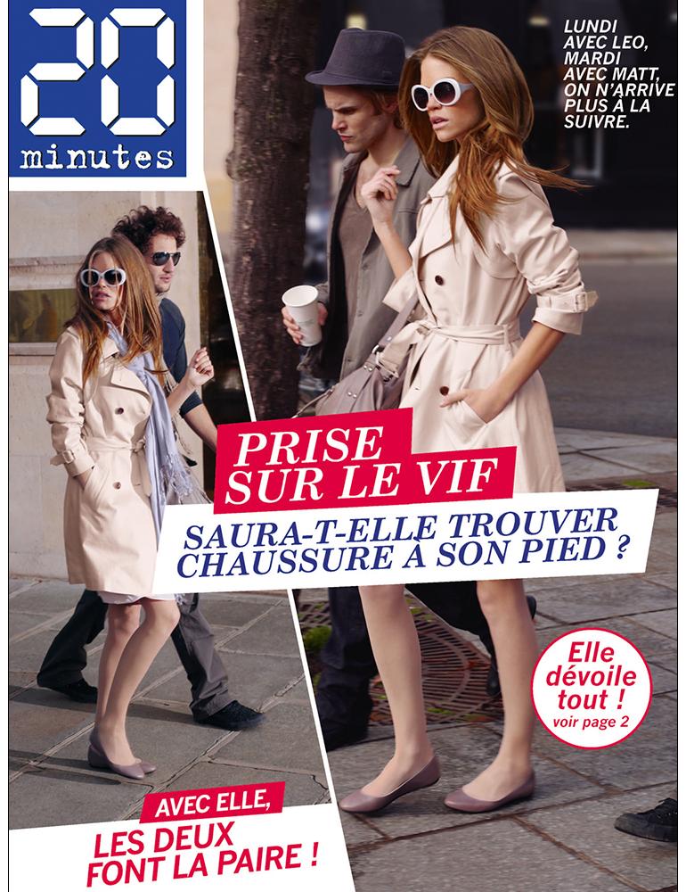Campagne print La Halle aux Chaussures - Ballerines - créé par Romain Cotto, Directeur Artistique 360 Print/film/digital