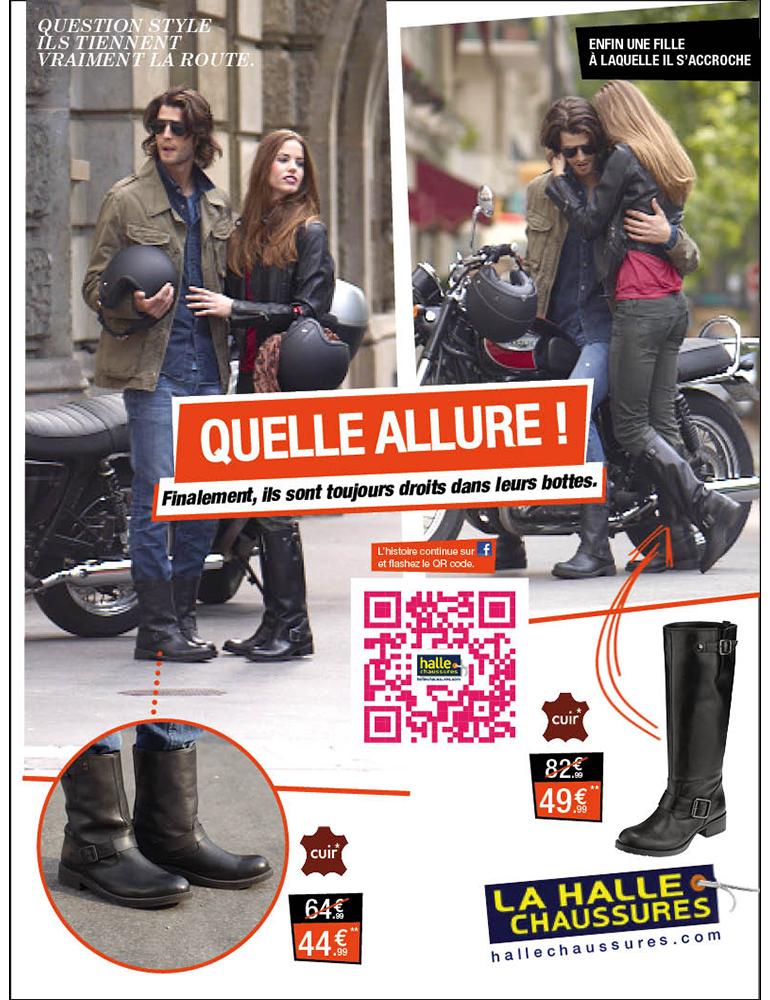Campagne print, La Halle aux Chaussures - créé par Romain Cotto, Directeur Artistique 360 Print/film/digital