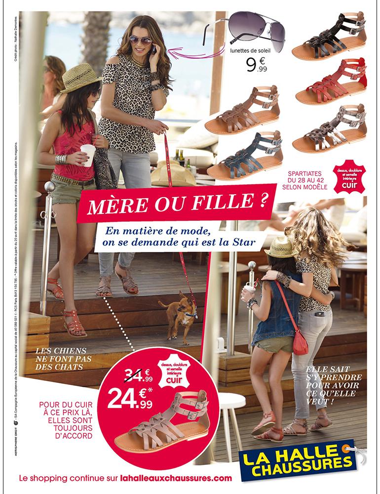 Campagne print La Halle aux Chaussures - créé par Romain Cotto, Directeur Artistique 360 Print/film/digital