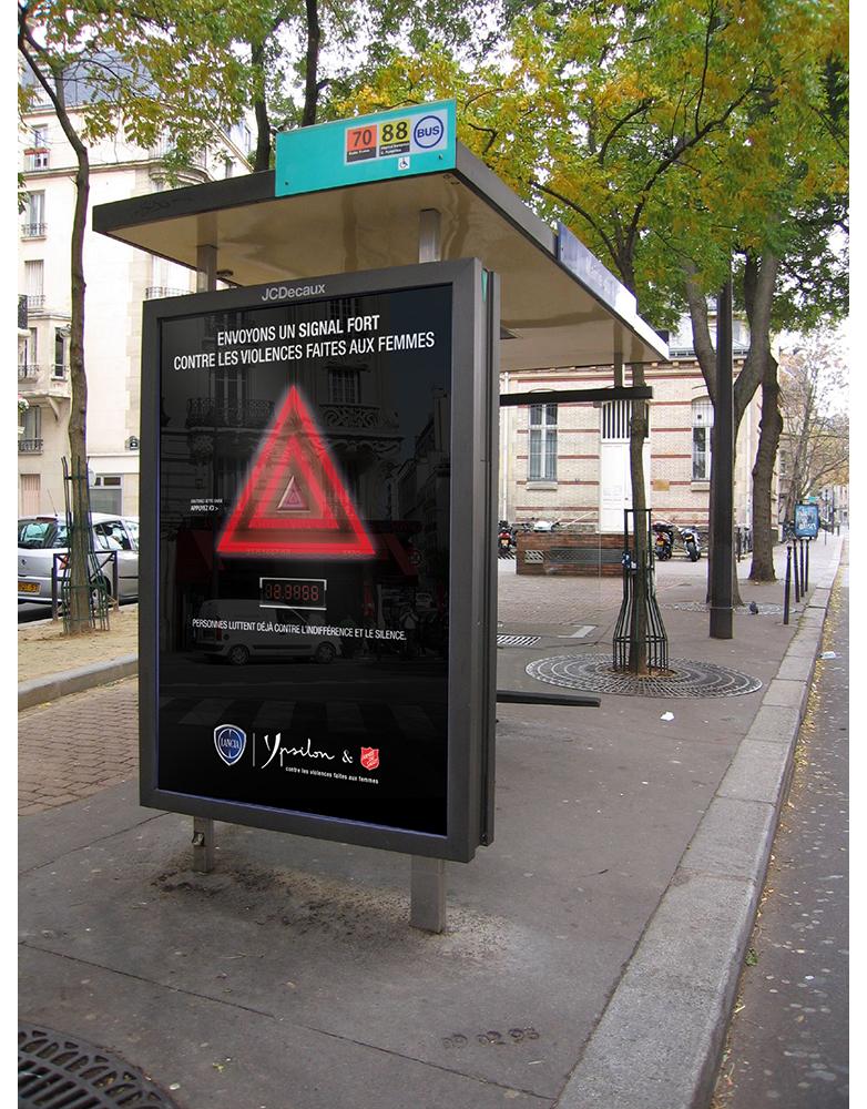 Création campagne grande cause Lancia Ypsilon- créé par Romain Cotto, Directeur Artistique 360 Print/film/digital