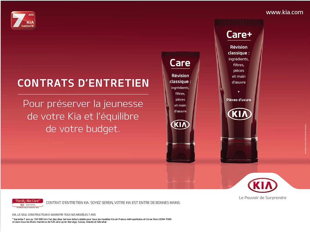 """affiche Kia """"Care""""- créée par Romain Cotto, Directeur Artistique 360 Print/film/digital"""