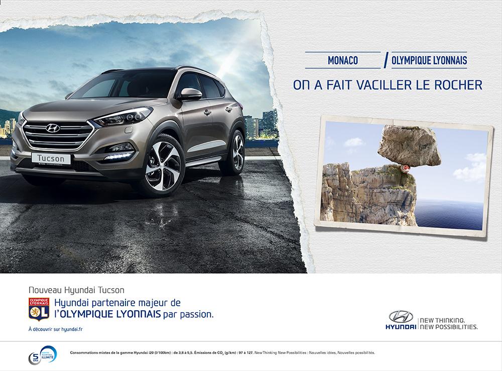 Annonce l'Equipe Hyundai/OL Monaco - créée par Romain Cotto, Directeur Artistique 360 Print/film/digital