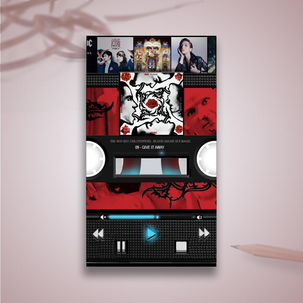 Concept UX/UI design Music Player - créé par Romain Cotto, Directeur Artistique 360 Print/film/digital