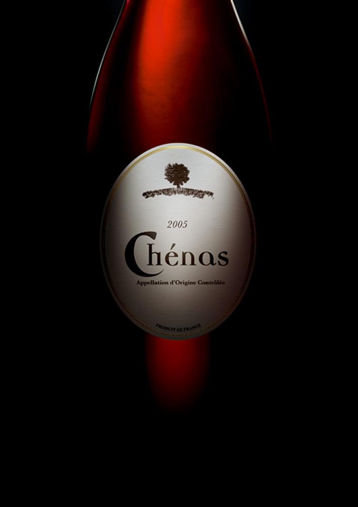 Etiquette Chénas, campagne print grands crus du Beaujolais- créée par Romain Cotto, Directeur Artistique 360 Print/film/digital