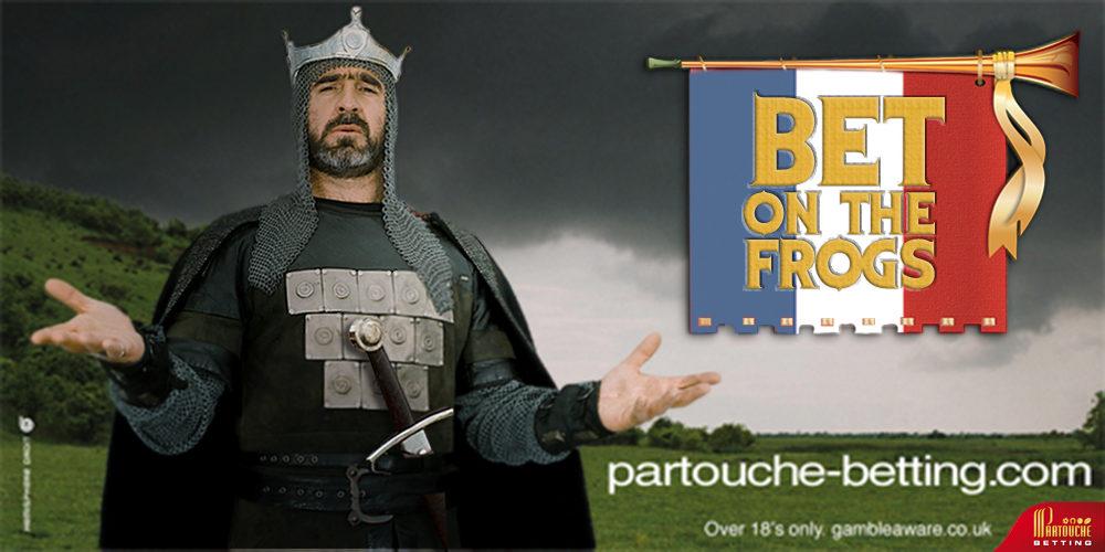 Partouche betting, Eric Cantona - Bet on the frogs - créé par Romain Cotto, Directeur Artistique 360 Print/film/digital