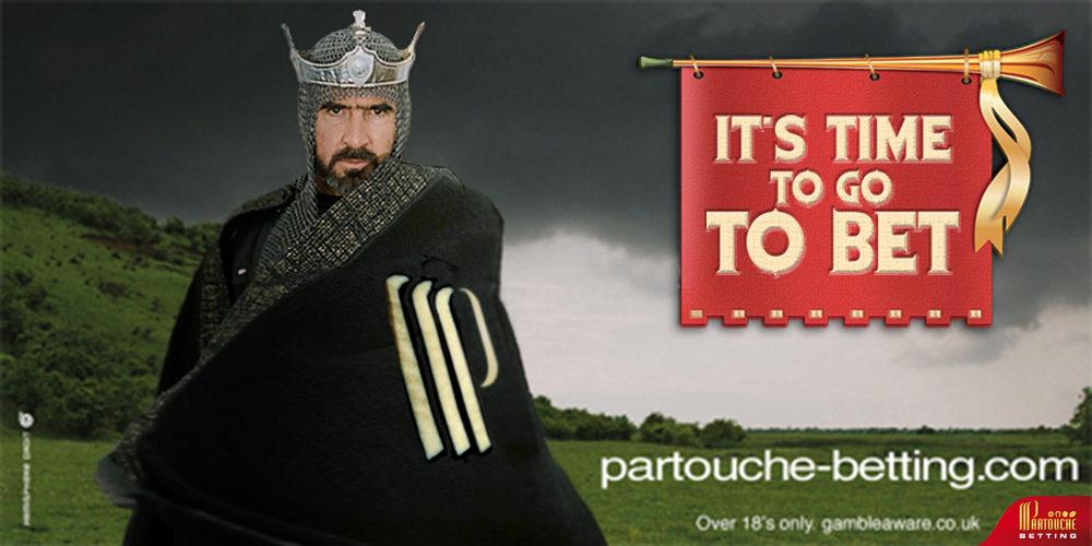 Partouche betting, Eric Cantona, to go to bed - créé par Romain Cotto, Directeur Artistique 360 Print/film/digital