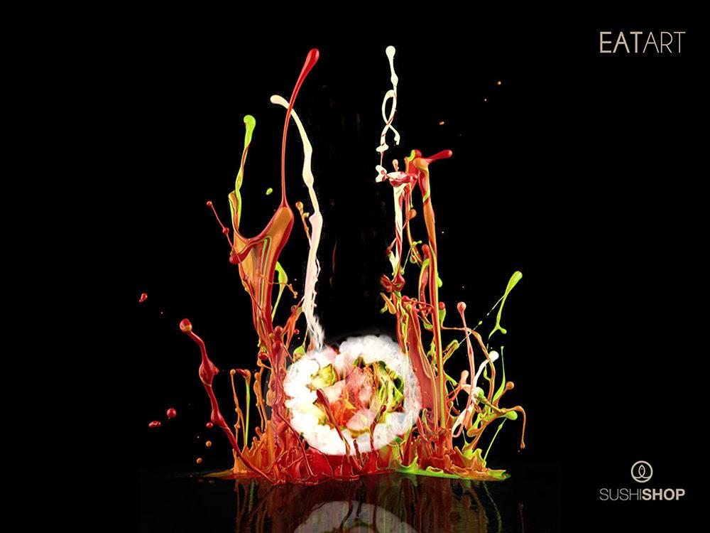 Campagne conception Key-visual Sushi Shop - créé par Romain Cotto, Directeur Artistique 360 Print/film/digital