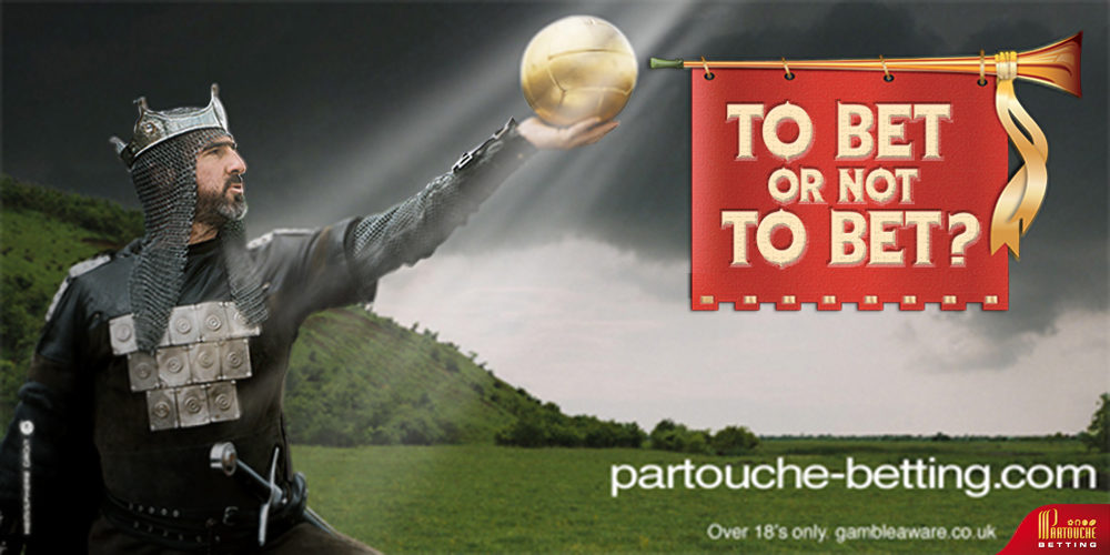 Partouche betting, Eric Cantona - To bet or not to bet - créé par Romain Cotto, Directeur Artistique 360 Print/film/digital