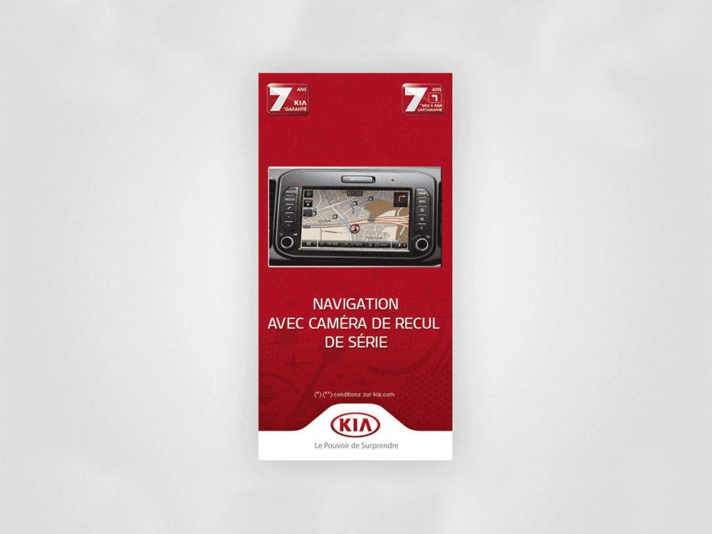 Kia picanto, bannière, navigation - créé par Romain Cotto, Directeur Artistique 360 Print/film/digital
