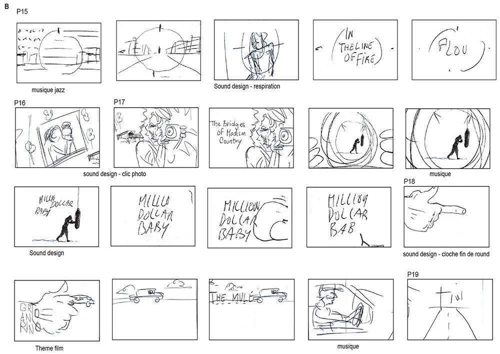 dossier storyboard B make my day - créé par Romain Cotto, Directeur Artistique 360 Print/film/digital