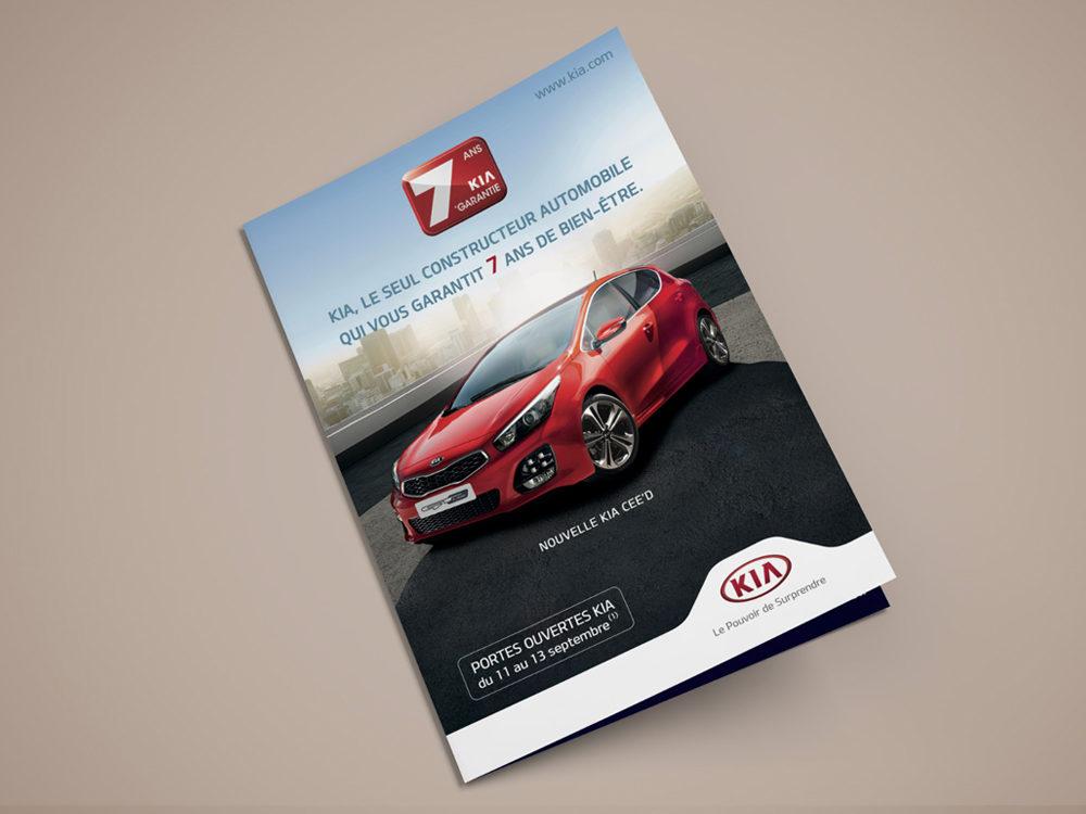couve leaflet edition kia cee'd - créé par Romain Cotto, Directeur Artistique 360 Print/film/digital