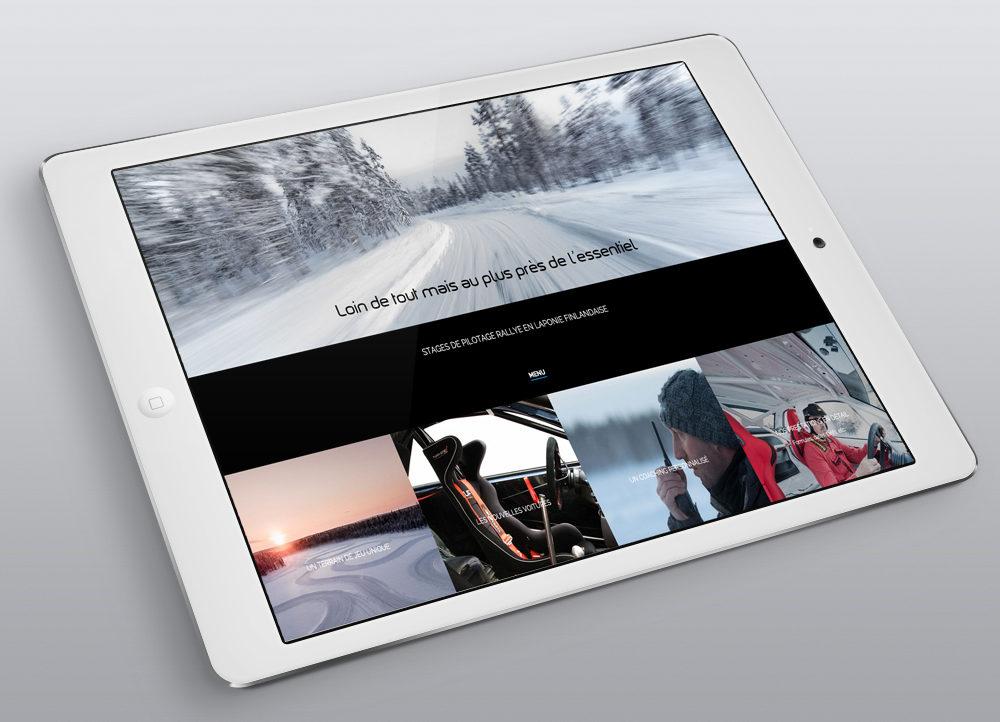Création nouveau Site MS Drive, Menu - créé par Romain Cotto, Directeur Artistique 360 Print/film/digital