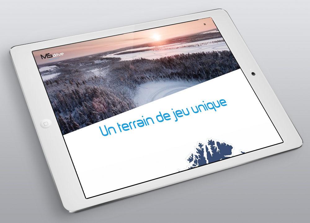 Création nouveau Site MS Drive, Menu page terrain de jeu - créé par Romain Cotto, Directeur Artistique 360 Print/film/digital