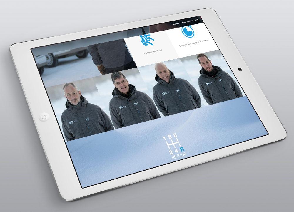Création nouveau Site MS Drive, les coachs - créé par Romain Cotto, Directeur Artistique 360 Print/film/digital