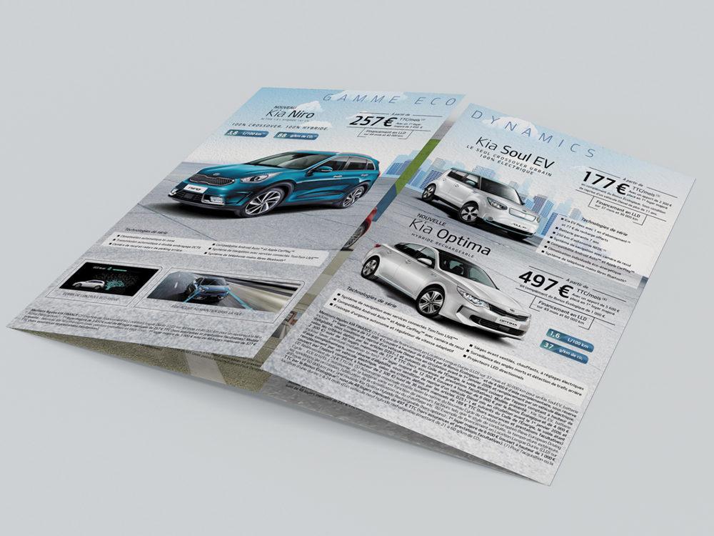 double interieur Kia, edition- créé par Romain Cotto, Directeur Artistique 360 Print/film/digital